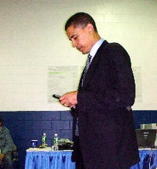 Obama su savo Blackberry